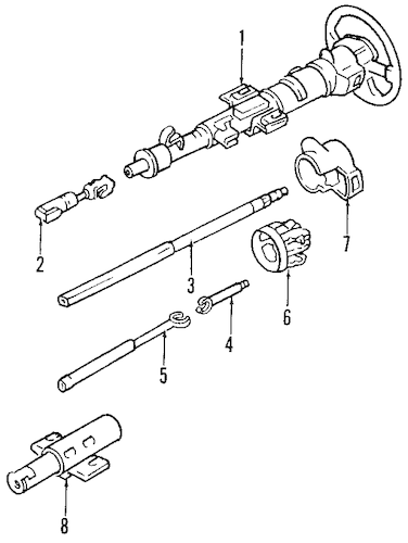 STEERING COLUMN ASSEMBLY Parts for 1993 Chevrolet Lumina APV