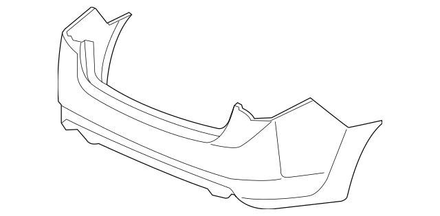 2009-2014 Acura TSX SEDAN Face, Rear Bumper (DOT) 04715