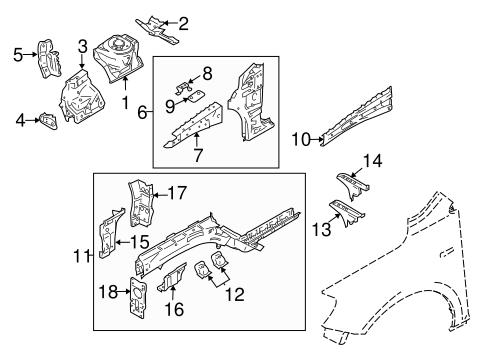 Structural Components & Rails for 2010 Suzuki Kizashi