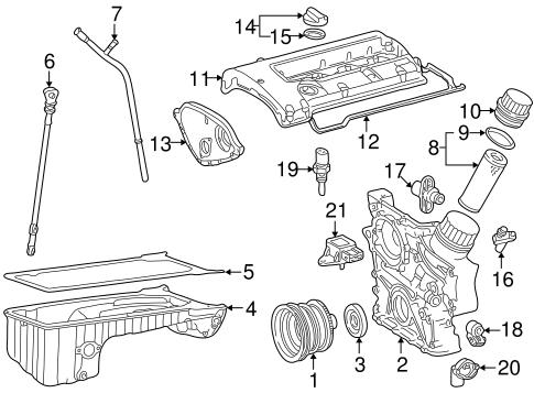 Emission Components for 2000 Mercedes-Benz SLK 230