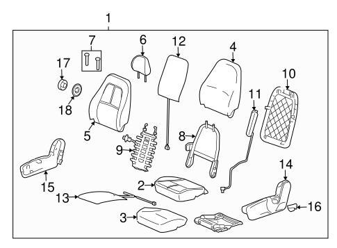 OEM 2008 Saturn Vue Front Seat Components Parts