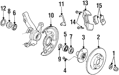 BRAKE COMPONENTS for 1996 Ford Aspire