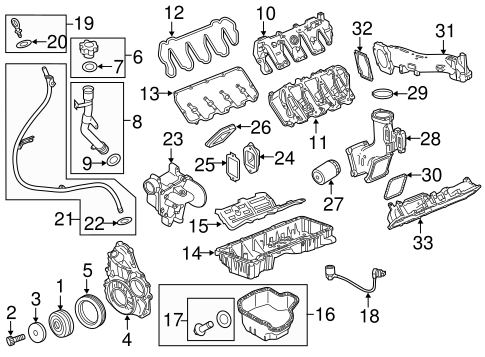 OEM Engine Parts for 2015 GMC Sierra 3500 HD