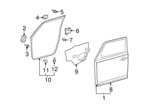 Genuine OEM Door & Components Parts for 2008 Scion xB Base