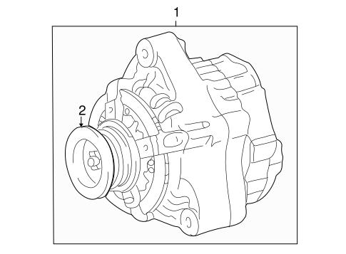 Genuine OEM Alternator Parts for 2006 Toyota Sequoia