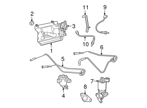Emission Components for 2005 Jeep Grand Cherokee Parts