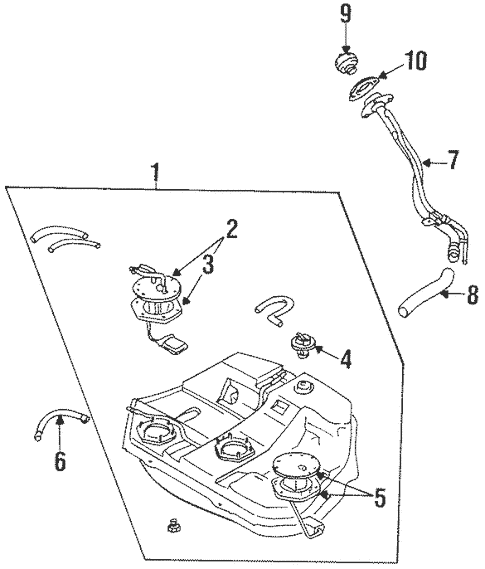 Fuel System Components for 1996 Mitsubishi Galant