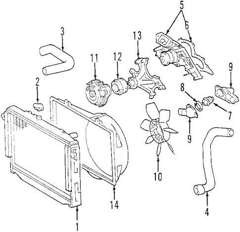 Genuine OEM WATER PUMP Parts for 2005 Toyota Land Cruiser
