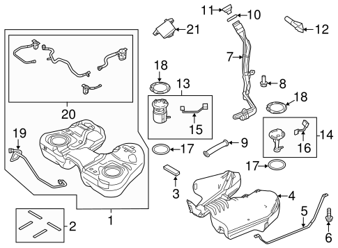 Fuel System Components for 2013 Ford Explorer