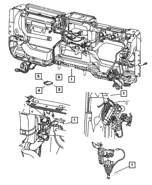 2001 Jeep Wrangler Instrument Panel Wiring 56010108AJ