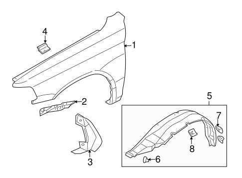 Fender & Components for 1997 Mitsubishi Montero Sport LS