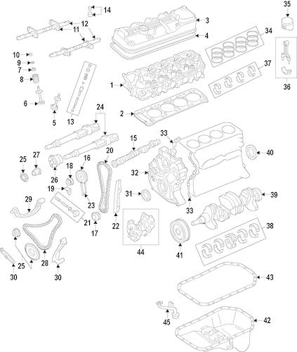 Genuine OEM Engine Parts For 1992 Mazda B2600 LE-5