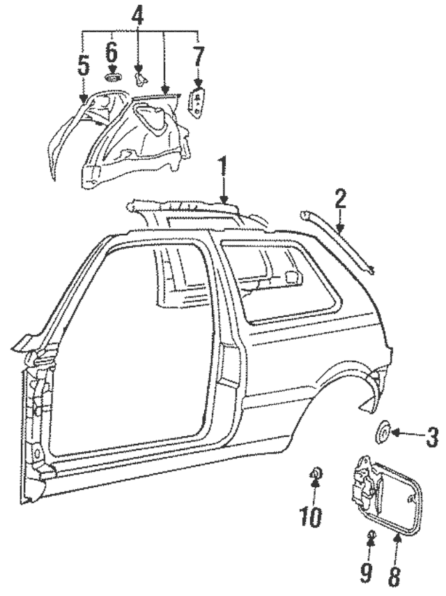 Genuine OEM Door Frame Assembly Plug Part# N-102-265-01