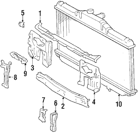 RADIATOR SUPPORT for 1991 Toyota Camry