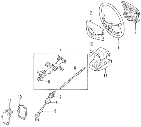 Genuine OEM Steering Column Parts for 2006 Toyota