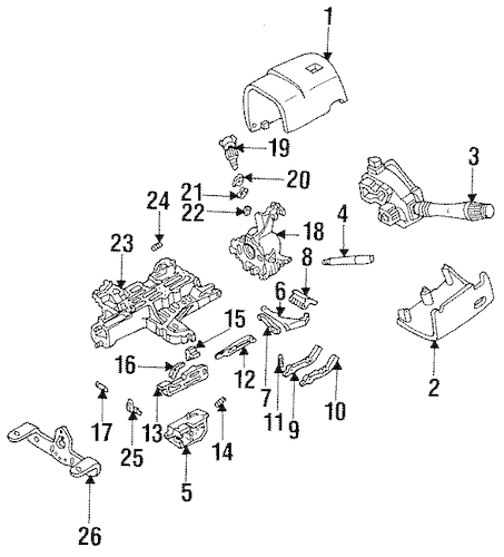 HOUSING & COMPONENTS for 1994 Lincoln Mark VIII