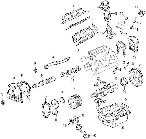 Oil Pan Parts for 2000 Pontiac Firebird