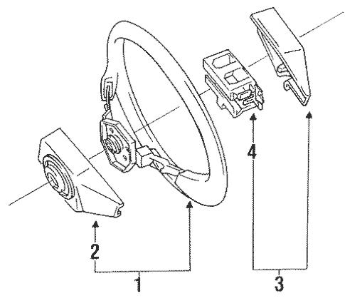 Genuine OEM Steering Wheel Parts for 1994 Toyota Land