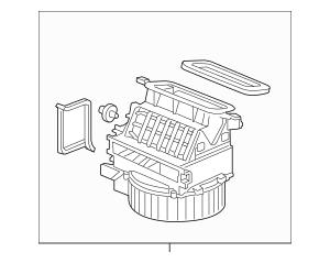 2011-2016 Honda ODYSSEY 5-DOOR Blower Sub-Assembly 79305