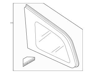 Genuine OEM Quarter Glass Part# TD11-62-950C Fits 2007