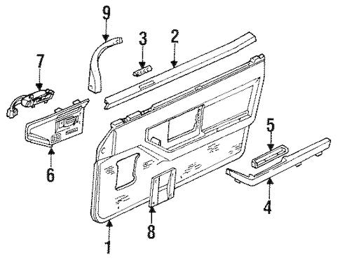 OEM 1988 Chevrolet Corvette Interior Trim Parts