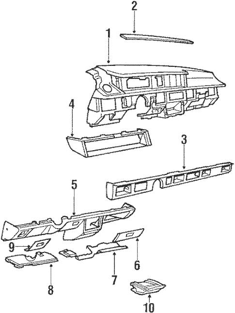 Instrument Panel for 1987 Oldsmobile Delta 88