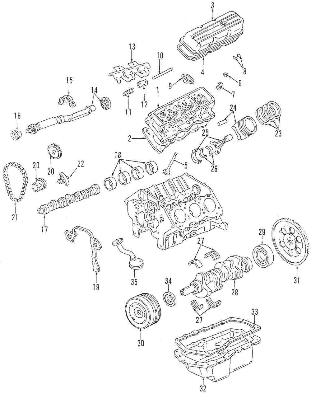 OEM NEW 1995-2005 GM Buick Chevrolet Oldsmobile Engine