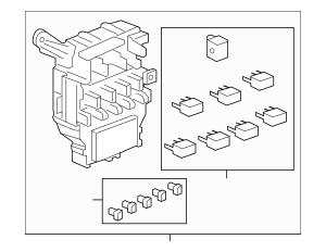 2014 Honda RIDGELINE SEDAN Box Assembly, Fuse 38200-SJC