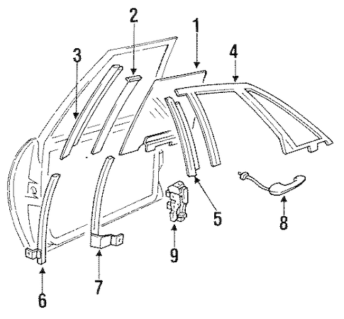 LOCK & HARDWARE Parts for 1991 Buick Park Avenue