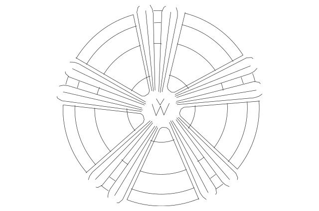 2018-2020 Volkswagen Tiguan Wheel, Alloy 5NN-601-025-E-NQ9