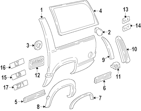 Quarter Panel & Components for 1993 Chevrolet Blazer