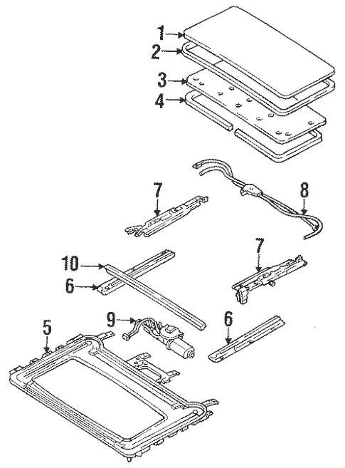 Genuine OEM Sunroof Parts For 1994 Mazda MX-3 Base