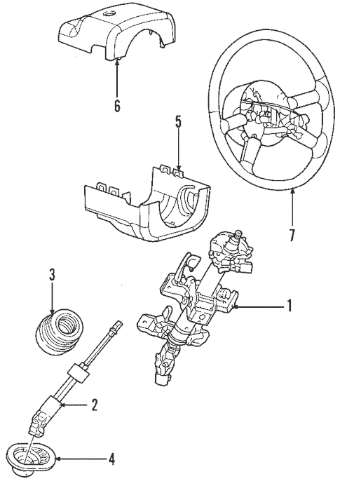 Steering Column Assembly for 2004 Chrysler PT Cruiser