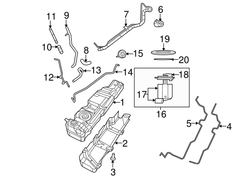 Fuel System Components for 2008 Jeep Wrangler