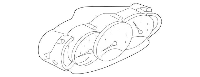 2000-2004 Porsche Boxster Instrument Cluster 986-641-103