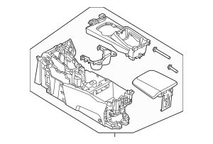 Genuine OEM 2013-2014 Ford Focus Center Console DM5Z