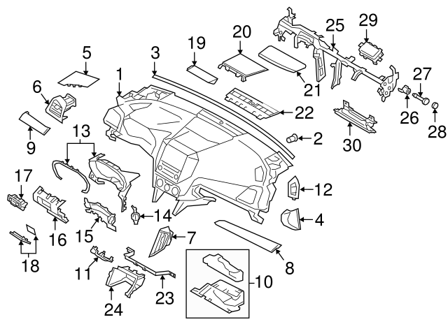 2017-2020 Subaru Impreza Fuse Box Door 66135FL00AVH