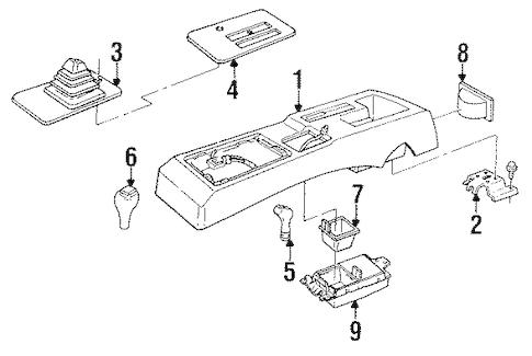 OEM 1991 Chevrolet Corsica Center Console Parts