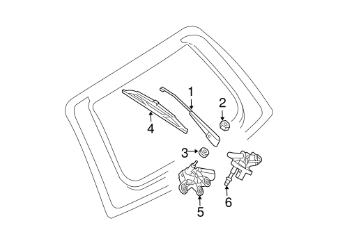 Wiper & Washer Components for 2004 Mercedes-Benz E 500