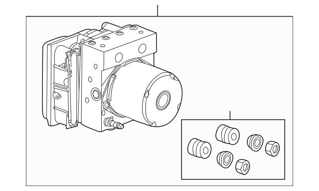 2010-2013 Acura ZDX 5-DOOR Modulator Assembly, Vsa