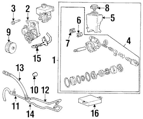 OEM 1995 Pontiac Grand Am Pump & Hoses Parts