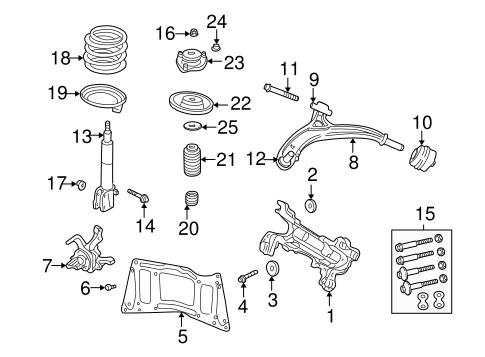 SUSPENSION COMPONENTS for 2001 Chrysler Town & Country