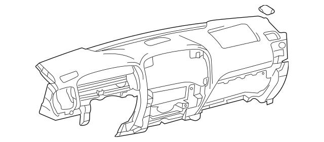 2003-2009 Lexus GX470 Instrument Panel 55401-60926-C0