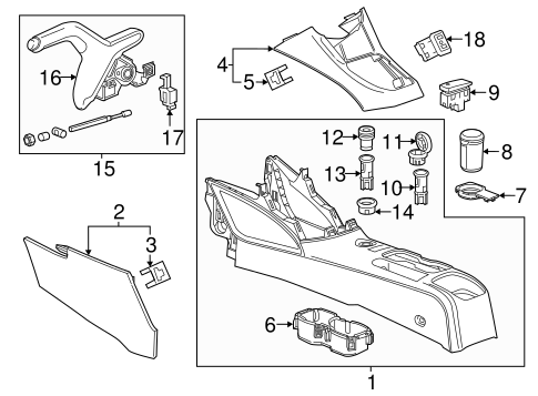 OEM Center Console for 2014 Chevrolet Sonic