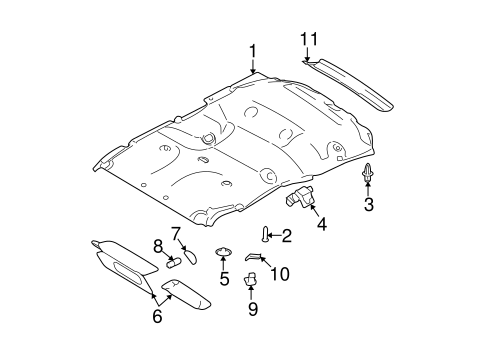 2011-2014 Ford Expedition Navigator Headliner Ceiling Roof