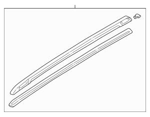 1998-2002 Subaru Forester Rail Assembly 91075FC000NN