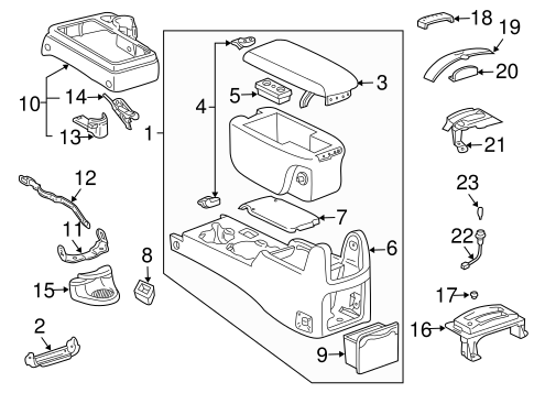 Genuine OEM Console Parts for 2004 Toyota Tacoma Base