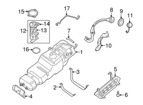 Fuel System Components for 2004 Nissan Pathfinder Armada