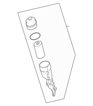 2007-2015 Mercedes-Benz Oil Filter Housing 156-180-04-10