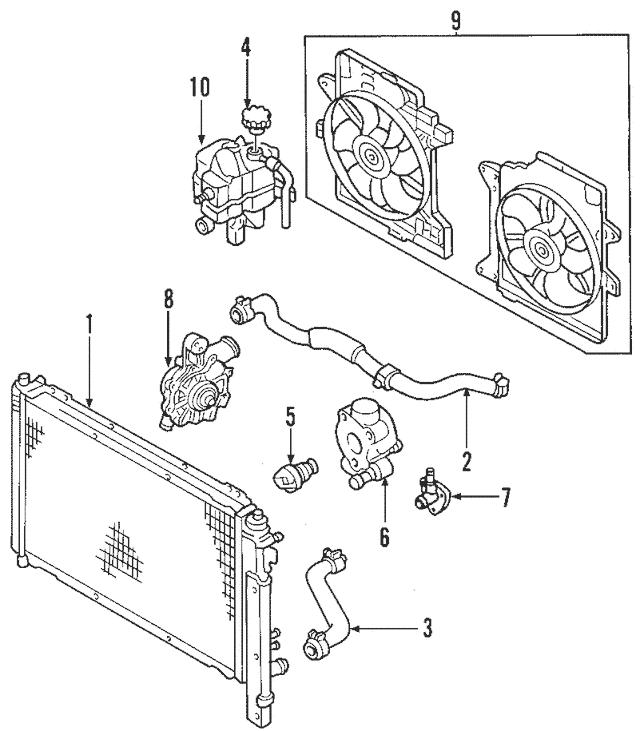 2001-2006 Mazda Tribute Radiator Assembly ZZC2-15-200